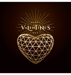 valentines day golden vector image