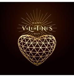 valentines day golden vector image