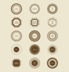 vintage halftone dotted banners collection vector image