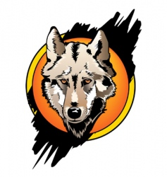 Wolf front vector