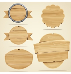 Wood elements vector