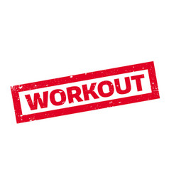 Workout rubber stamp vector