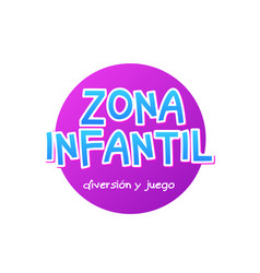 zona infantil - kids zone in english game banner vector image