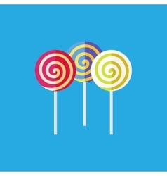 Flat lollipop icon vector