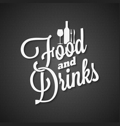 food and drink vintage lettering menu background vector image vector image