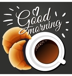 Good morning vector image vector image