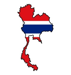 Map in colors of Thailand vector image vector image