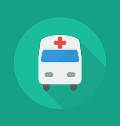 Medical Flat Icon Ambulance vector image vector image