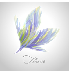 Shiny striped blue flower vector image vector image