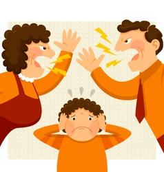 fighting parents vector image
