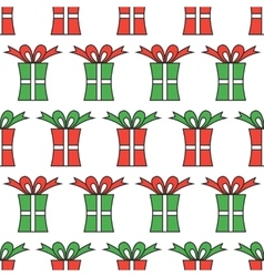 Gift boxes packaging Seamless pattern of boxes vector image