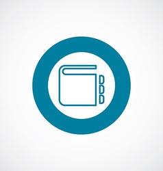 notepad icon bold blue circle border vector image