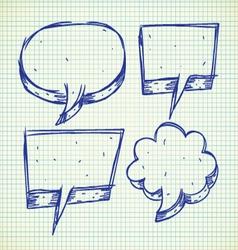 set of speak bubble vector image vector image