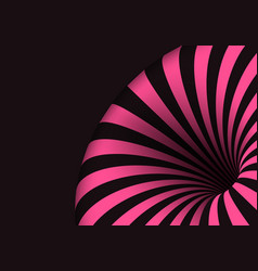 tunnel template spiral twisted vortex shape vector image