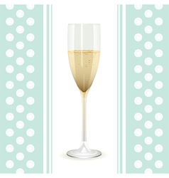 champagne flute vector image vector image