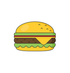 hamburger icon flat style vector image vector image