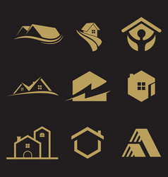 logo set building vector image