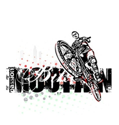 mountain bike poster background vector image vector image