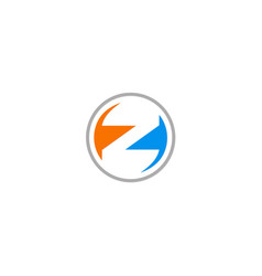 round letter z company logo vector image