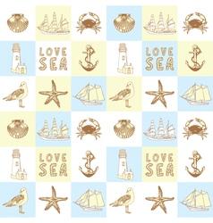Seaside Elements Background vector image