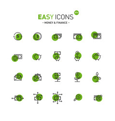 easy icons 07d money vector image vector image
