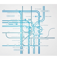 infographics subway transportation plan vector image vector image
