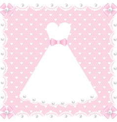 Lace dress and pearls vector