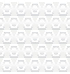 Shades of White Hexagons Seamless Background Tile vector image