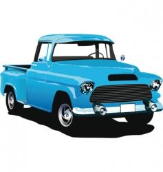 vintage truck vector image vector image