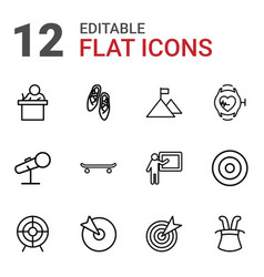 12 performance icons vector