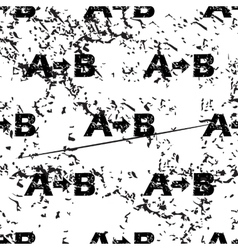 A-B logic pattern grunge monochrome vector