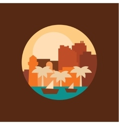 a city in the eastern countries vector image