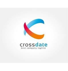 Abstract colored circles logo icon concept vector image
