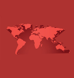 abstract red world map vector image