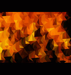 abstract voluminous fire background with triangles vector image