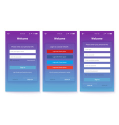 Account register or authorization interface vector