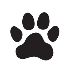 animals dogs paw print vector image
