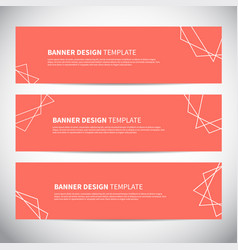 banners or headers with trendy geometric vector image