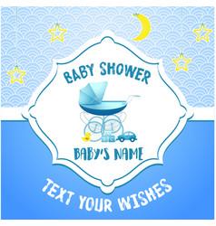 bashower invitation card template vector image