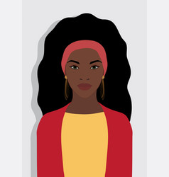 beautiful young black afro american woman wearing vector image