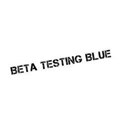 Beta Testing Blue rubber stamp vector
