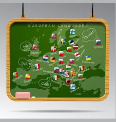 Blackboard european languages vector