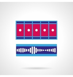 Blue and pink video processing icon vector image