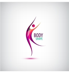 body shape logo Human icon dancing sport vector image