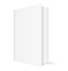 book mockup white vertical template with blank vector image