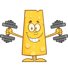 Cheese Cartoon Doing Weights vector image