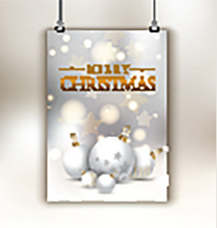 Christmas flyer background vector image