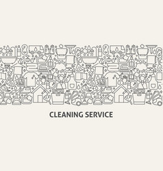 Cleaning service banner concept vector