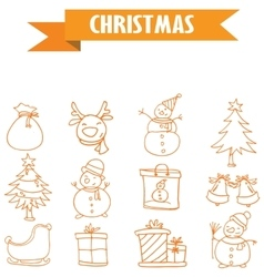 Collection element Merry Christmas vector