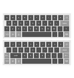 Compact black virtual keyboard clipart vector